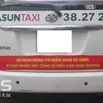 Ý kiến của Luật sư về việc một số hãng Taxi dán khẩu hiệu phản đối GRAB, UBER