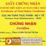 TGS LawFirm xin cấp thành công Giấy chứng nhận cơ sở đủ điều kiện an toàn thực phẩm cho Công ty Chợ Quê Việt Nam