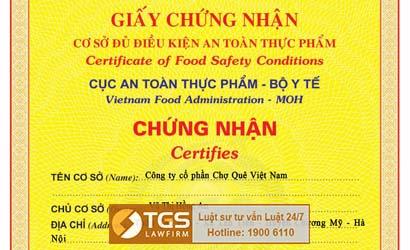 tgs-lawfirm-xin-cap-thanh-cong-giay-chung-nhan-co-so-du-dieu-kien-an-toan-thuc-pham-cho-cong-ty-cho-que-viet-nam