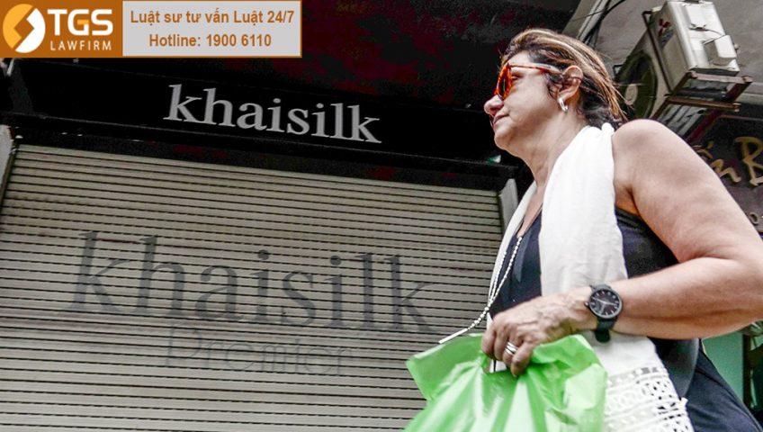 Cửa hàng Khai Silk trên phố Hàng Gai (Hà Nội)