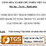 Quan điểm Luật sư TGS LawFirm trong vụ án Đỗ Văn Trung (Uông Bí, Quảng Ninh)