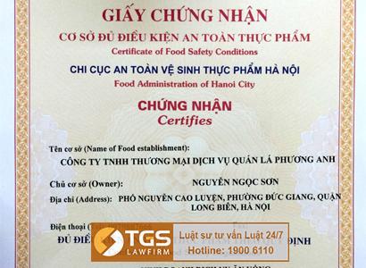 tgs-lawfirm-xin-cap-thanh-cong-giay-chung-nhan-co-du-dieu-kien-ve-sinh-toan-thuc-pham