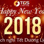 Lịch nghỉ tết Dương Lịch 2018 – Công ty Luật TNHH TGS