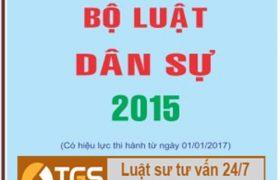 Luật dân sự 2015 – Bộ luật dân sự 2015 mới nhất!