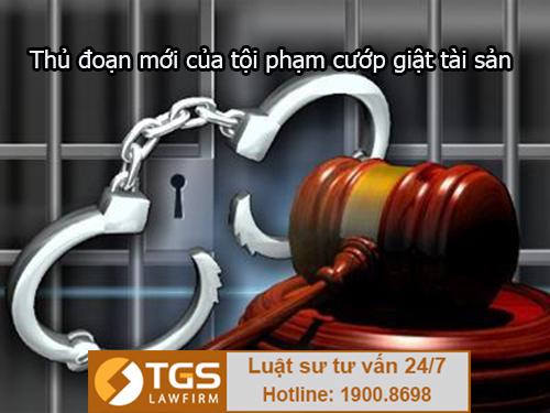 thủ đoạn mới của tội phạm cướp giật tài sản
