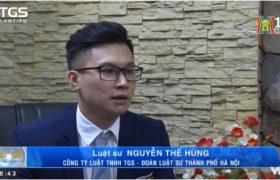 Luật sư TGS trả lời phỏng vấn Đài truyền hình Hà Nội về việc cấm kinh doanh, sử dụng các loại hình bóng cười , cỏ mỹ,..