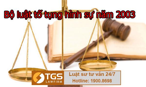 bộ luật tố tụng hình sự năm 2003