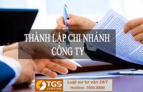 Thủ tục đăng ký thành lập chi nhánh công ty
