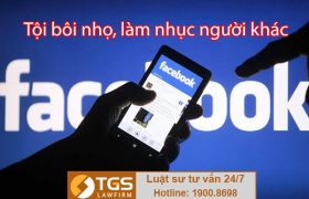 Tội làm nhục người khác qua FaceBook bị xử lý như thế nào?
