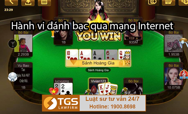 Hành vi đánh bạc qua mạng Internet